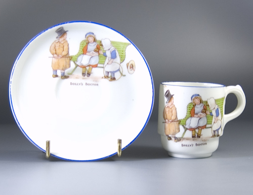 "Paragon ""Dolly's Doctor"" cup and saucer designed by Thomas Poole"