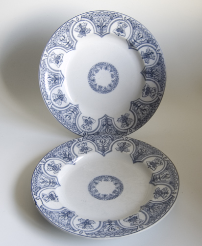 Pair of Gothic Revival Dinner Plates - Sold