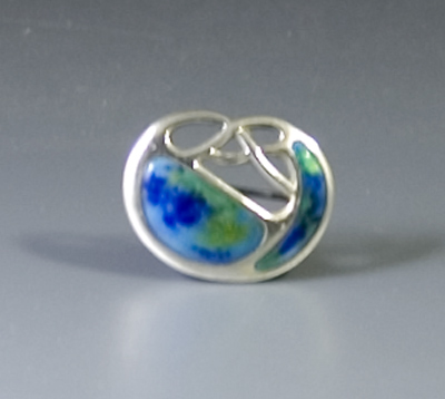Charles Horner Arts & Crafts Silver & Enamel Brooch (Sold)
