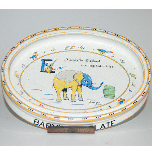 Paragon Animal Alphabet Series Baby's Plate by Constance Grace