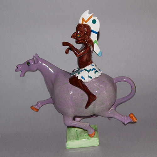 1970s Indian on a Horse Teapot designed by Roger Michell (Sold)